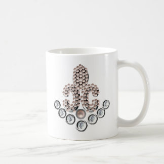 Fleur De Lis-jewelled Basic White Mug