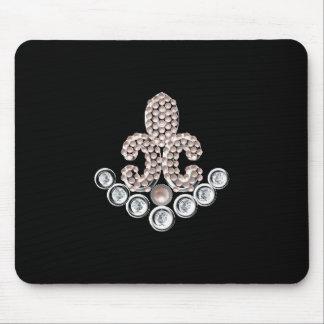 Fleur De Lis-jewelled Mouse Pad