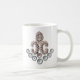 Fleur De Lis-jewelled Coffee Mugs