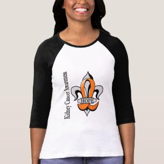 Fleur De Lis Kidney Cancer Hope T-Shirt
