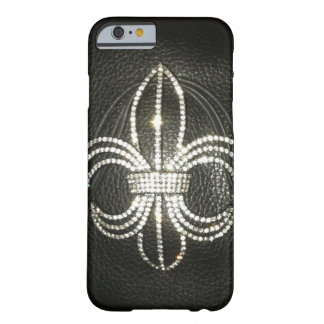 Fleur de-lis leather look case barely there iPhone 6 case