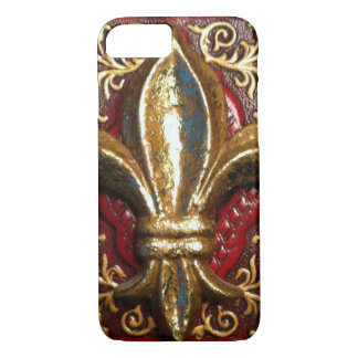 Fleur de-lis leather look case