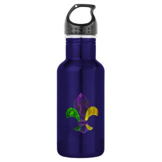 Fleur De Lis Mardi Gra add text 532 Ml Water Bottle