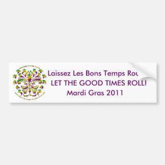 Fleur de lis Mardi Gras 2011 V-1 Bumper Sticker