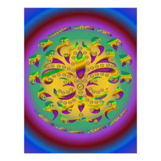fleur de lis Mardi-Gras 2011 V-2 21.5 Cm X 28 Cm Flyer