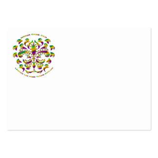 fleur de lis Mardi-Gras 2011 V-2 Business Cards