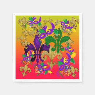 Fleur de lis Mardi Gras cocktail napkins Paper Napkins