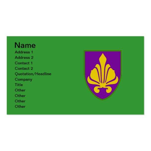 Fleur De Lis Mardi Gras Colors Business Card Templates