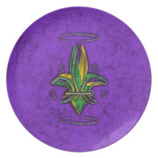 Fleur de Lis/Mardi Gras Plates