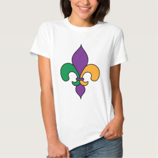 Fleur de Lis Mardi Gras T-Shirt