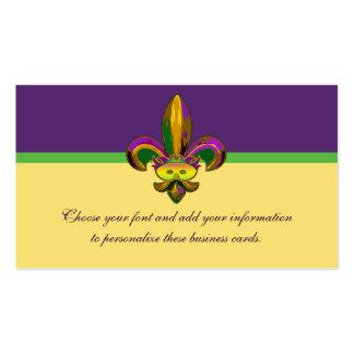 Fleur de lis Mask Business Cards
