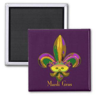 Fleur de lis Mask Magnet