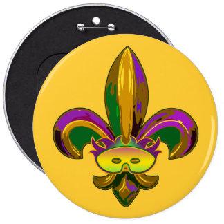 Fleur de lis Mask Pins
