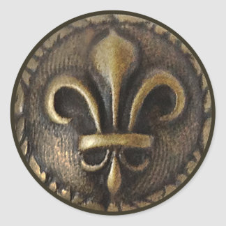 Fleur De Lis Medallion Classic Round Sticker