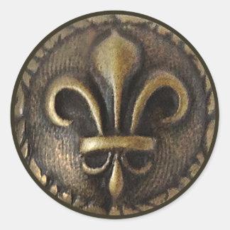 Fleur De Lis Medallion Round Sticker