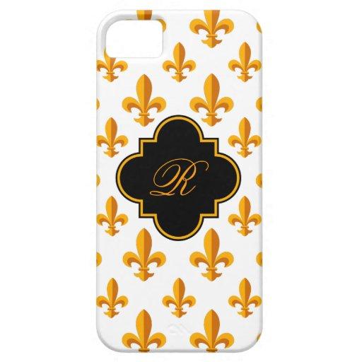 Fleur-de-lis Monogram iPhone 5 Cases