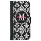 Fleur de Lis Monogram Damask Pattern iPhone 6 Wallet Case