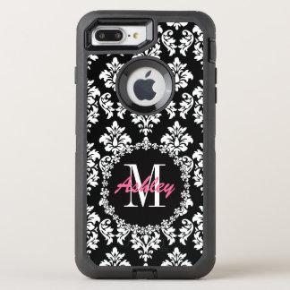 Fleur de Lis Monogram Damask Pattern OtterBox Defender iPhone 8 Plus/7 Plus Case