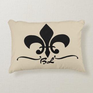 Fleur de Lis Monogram Decorative Cushion