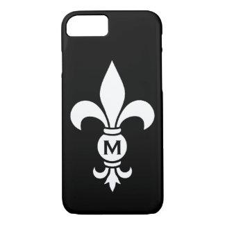 Fleur De Lis Monogram Simple Modern Minimalist iPhone 8/7 Case