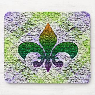 Fleur de Lis Mosaic Mousepads