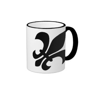 Fleur de Lis Ringer Coffee Mug