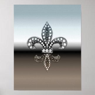 Fleur De Lis New Orleans Poster Jewel Sparkle