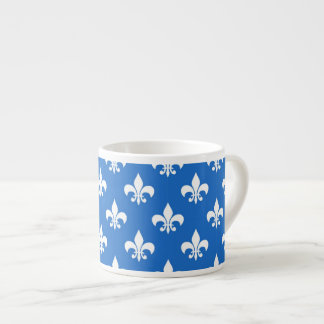 Fleur-de-lis on Blue Espresso Mug