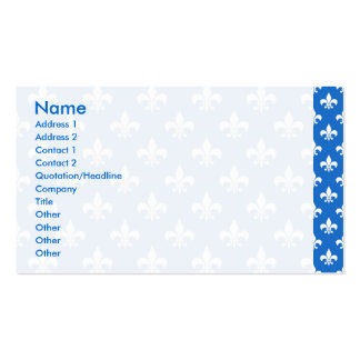 Fleur-de-lis on Blue Pack Of Standard Business Cards