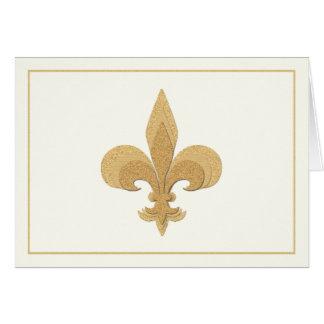 Fleur-de-Lis on Light Cream Color Note Card