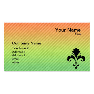 Fleur de lis pack of standard business cards