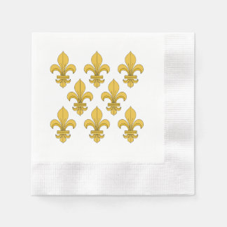 Fleur-de-lis Paper Serviettes