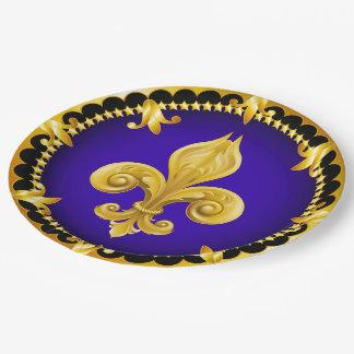 Fleur de Lis Party Goods Paper Plate
