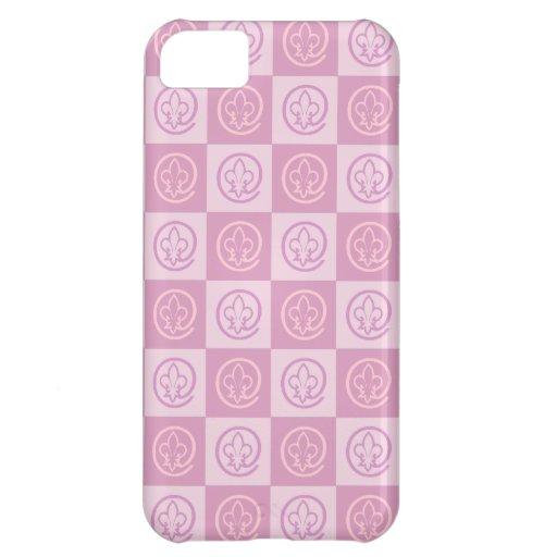 Fleur-de-lis Pattern Cover For iPhone 5C