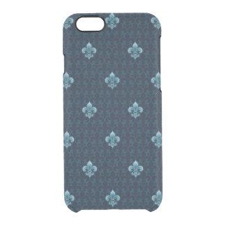 Fleur De Lis Pattern Clear iPhone 6/6S Case