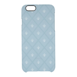 Fleur-de-lis pattern clear iPhone 6/6S case