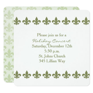 Fleur de Lis Pattern Editable Invitation