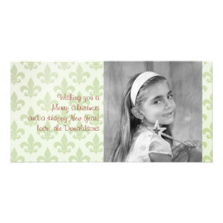 Fleur de Lis Pattern Editable Photo Card