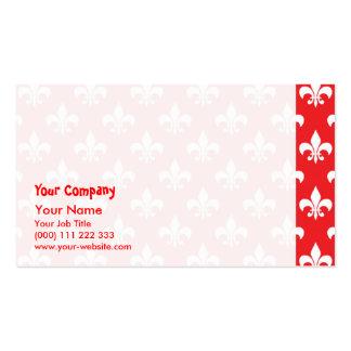 Fleur-de-lis pattern on Red Business Card Templates