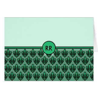 Fleur de Lis Patterned NoteCards to Personalize Card