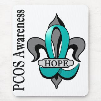 Fleur De Lis PCOS Hope Mouse Pad