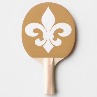 Fleur De Lis Ping Pong Paddle