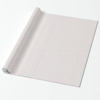 Fleur de Lis Pink Gray Wrapping Paper