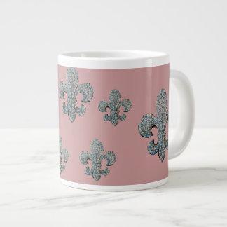 Fleur de lis print jumbo mug