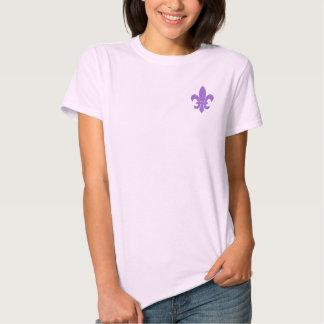 fleur de lis - purple nurple t shirts