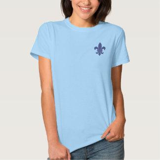 fleur de lis - purple texture t shirts