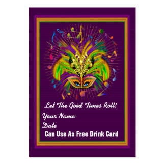 fleur-de-lis Queen Mardi Gras Throw Card See notes Pack Of Chubby Business Cards