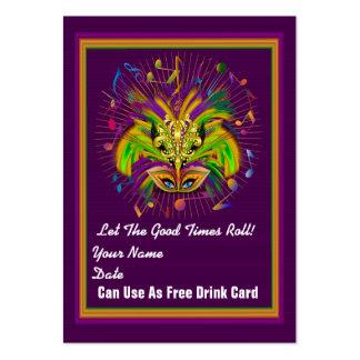 fleur-de-lis Queen Mardi Gras Throw Card See notes Business Card