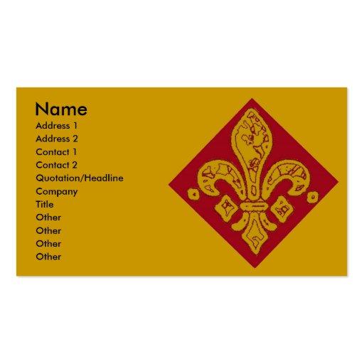 Fleur De Lis Red, Business Card Templates