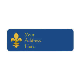 Fleur-de-lis Return Address Label